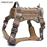 Police K9 Tactical Training Hundegeschirr Militärische Verstellbare Molle Nylon Weste,Camouflage,XL