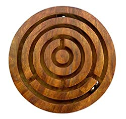 Indian Handicraft Wooden Hand Made Game Plate 5/ Toy / 2 Pieces / Gift Size:- (Inche)5X5