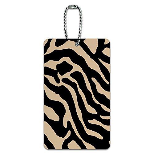 Zebra Print Tan ID-Tag Gepäck-Koffer Handgepäck