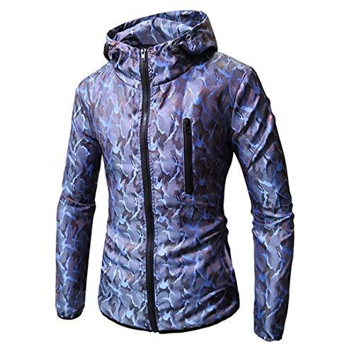 ❤️Manteau Veste Homme Amlaiworld Hommes Manches Longues Camouflage Sweat à Capuche imprimé Manteau d'usure Tops Jacket Pull Top Tee Outwear Blouse