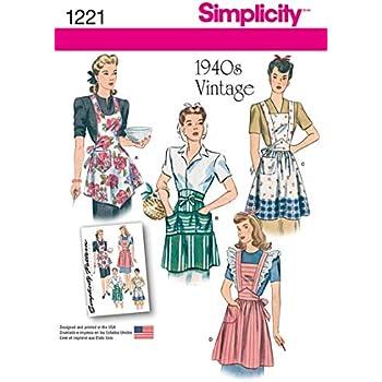 Simplicity 1221 Taille A Patrons de Couture pour Tabliers Vintage ...
