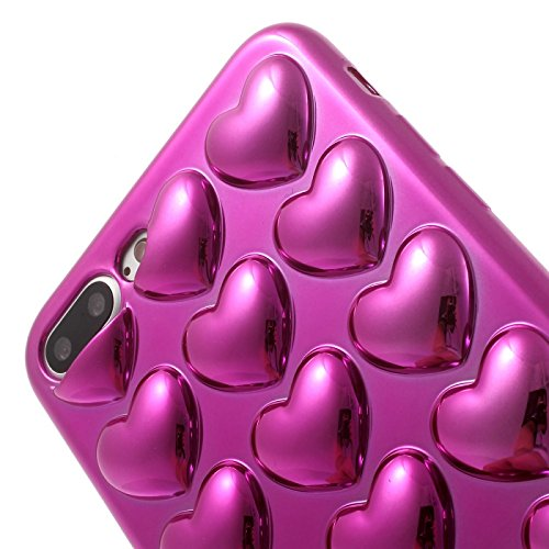 Bubblegum® iPhone 6,6s Fall, iPhone 6,6s Fall Modelle Love Hearts Pretty Soft Gel Case Cover mit echtem Bubblegum 14 cm iPhone 6,6s, violett, iPhone 6 6s violett