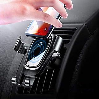 Baseus Handy Halterung für Auto, Kabelloses Autoladegerät Air Vent Phone Holder für iPhone XS Max/XS/Xr/X/8/8Plus,Samsung Galaxy S9/S9 plus/S8/S8 Plus, Schwarz