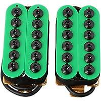 lyws Keramik Magnet E-Gitarre Tonabnehmer Humbucker Hals & Steg Invader Stil grün
