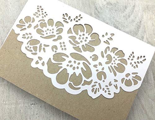 SimpleLettering Stanzschablone/Cutting Dies Bordüre Blumenstrauß geeignet für Big Shot