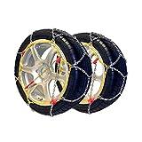 Snow Chains POLARMET size 90, 9mm, 2 pieces, TÜV/GS - for measures: 195/75_R14 , 205/70_R14 , 180_R15 , 6.00_R15 , 185/80_R15 , 195/65_R15 , 195/70_R15 , 205/65_R15 , 225/50_R15 , 225/55_R15 , 175_R16 , 175/75_R16 , 195/65_R16 , 205/55_R16 , 215/50_R16 , 225/45_R16 , 185/60_R17 , 205/50_R17 , 215/45_R17 , 235/40_R17 , 215/40_R18