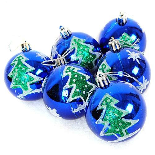 Tonsee Weihnachts-Party-Dekoration, 6 Stück Weihnachtskugeln, Party, Weihnachtsbaum, Dekoration, hängende Ornamente