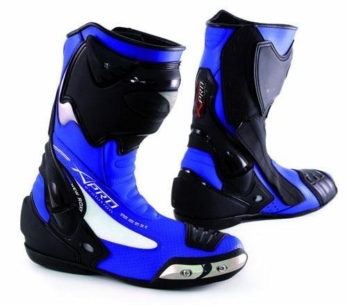 Racing Sport Track Stiefel Roadrunner Leistung Motorrad A-Pro Blau 45 Blau Motorrad-stiefel