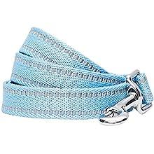Umi. by Amazon - guinzaglio per cani catarifrangente e resistente, 150 x 1,5 cm, taglia S, colore pastello blu baby