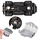 LaDicha 1Pc Metal Chassis Protection Skid Plate Armor for 1/10 Traxxas Trx4 Ford Bronco Car Parts