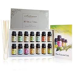 Idea Regalo - Soulessence® apos;Ultimate Collection' oli essenziali set starter pack (14bottiglie)–puro grado terapeutico aromaterapia oli da massaggio, bastoncini in omaggio, 10ml per bottiglia