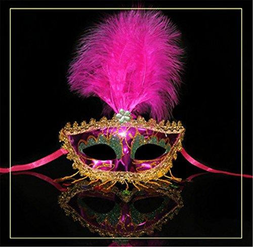 e-up Tanz Show Party Gemalte Schönheit Prinzessin,Rose Red (Red Skull Halloween-make-up)
