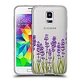 Head Case Designs Lavendel Rosen Und Wildblumen Soft Gel Hülle für Samsung Galaxy S5 Mini