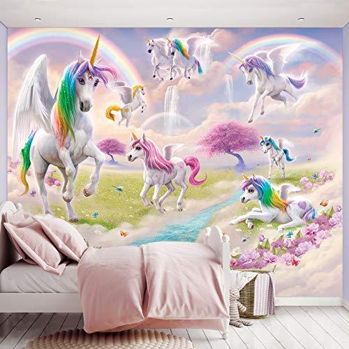 Fototapete Magical Unicorn inkl. Tapetenkleister Kindertapete Wandtapete - Kinder, Tapete, Disney Mädchen,
