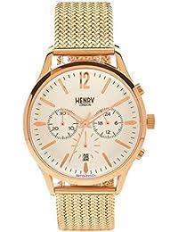 Henry London ltext-Orologio da polso cronografo luenette rich luna in acciaio inox HL41 - CM-0040 (Ricondizionato Certificato)