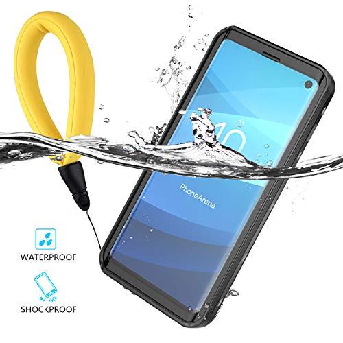 Samsung Galaxy S10 Wasserfeste Hülle, Wasserdichte Hülle IP68 Zertifiziert 360 Grad Ganzkörperabdeckung Anti-Kratzer eingebautem Bildschirmschutz Stoßfest Schutzhülle Handytasche für Samsung Galaxy S10