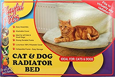 Playful Pets Pet Cat Dog Animal Kitten Puppy Radiator Warm Fleece Basket Cradle Bed