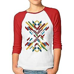 Divertida Camiseta Fractal Geométrica Mujer
