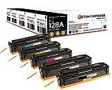 Original Reton Toner, Kompatibel, 5er Farbset für HP Pro CM1415 (CE320A, CE321A, CE322A, CE323A), HP 128A, Color Laserjet Pro CP1525N, CM1415, CP1525NW, CM1415 MFP, CM1415FNW MFP