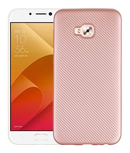 BINGRAN Zenfone 4 Selfie Pro ZD552KL Hülle, Carbon Fiber Kohlefaser Textur Elastisch Flex Weiche TPU Silikon Innerer Stoßfest Schützende Hülle für ASUS Zenfone 4 Selfie Pro ZD552KL 5.5