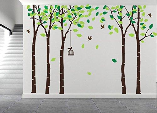 AmazingWall Wandaufkleber mit Cartoon-Motiv, 180 x 264 cm, 70,9 x 103,9 cm 180X264cm/70.9x103.9 braun - Akzent Kirsche