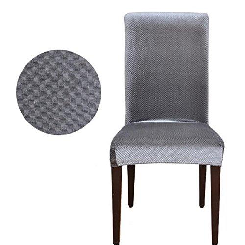 Lixinsunbu stretch Pinstripe court Housse de chaise salle à manger Housses, Tissu, gris, Taille M