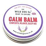 Calma Balsamo rimedio naturale per cani ansiosi, massaggio per alleviare il dolore. Made in UK da Wild Dog Co