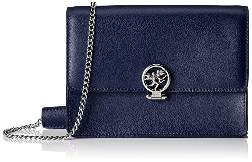 Piero Guidi Magic Circus Pelle Borsa a Tracolla, 20 cm, Blu Scuro