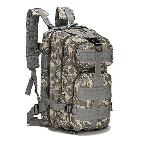 Eyourlife Mochila Militar Táctica Molle para Acampada Camping Senderismo Deporte Backpack de Asalto Patrulla para Hombre Mujer 20L – ACU Camo