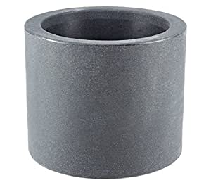 dehner blumenk bel kubus mit integrierten rollen 40 cm kunststoff anthrazit garten. Black Bedroom Furniture Sets. Home Design Ideas