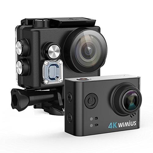 Caméra Embarquée Sport 4k WiMiUS L2 Camera d'Action Wifi Etanche 40m Caméscope 1080P HD 12MP + 2 Batteries + Kit d'Accessoires (Noir)