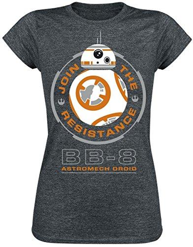 Star Wars Episode 7 - Das Erwachen der Macht - BB-8 Astromech Droid Girl-Shirt anthrazit meliert