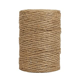 Tenn Well 328 Feet 6 Ply Natural Jute Twine Arts and Crafts Jute Rope Industrial Heavy Duty Packing String for Gifts, DIY Crafts, Decoration, Bundling and Gardening (Brown)