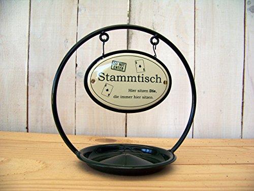 Stammtisch-Ständer Emaille m. Ascher