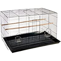 Animalmarketonline Voliera gabbia riparo uccelli calopsite parrocchetti canarini cocorite L 76 x P 45,5 x H 46 cm