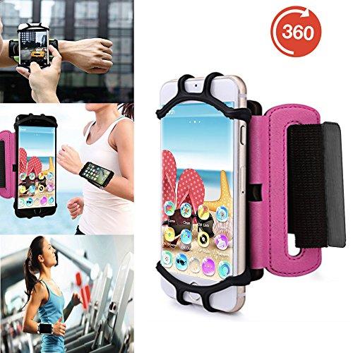 Outdoor Handy Schutzhülle | für Switel Cute S3510D | Multifunktional Sport armband | zum Laufen, Joggen, Radfahren | SPO-3 Pink