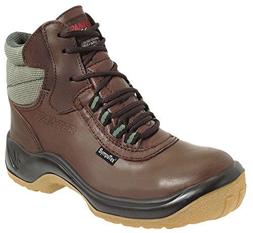 Panter–Scarpe di sicurezza, Linea multifunzione, modello Voltio SB Sympatex high2out, marrone, 917312700 Marrone