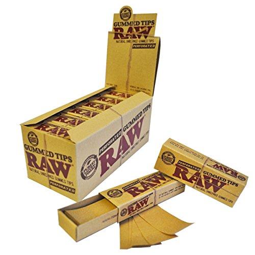 Raw Carta Filtro Gommata - Fibre Pure Naturali Senza Chimici e Cloro 24 Libretti Perforati