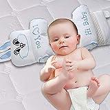 AYUE Oreiller pour Bébé Oreiller Fixe Anti-Tête pour Corriger La Tête Respirante Type De Correction Bébé 0-1-3 SNS (Rose),Blue