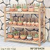Willsego Balkon Blumen Racks Massivholz Wohnzimmer Mehrere Schichten Indoor Blumentopf Rack Blume Regal Garten Hängenden Pläners Körbe (Farbe: # 3) (Farbe : #4, Größe : -)
