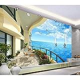 Weaeo Minion Wallpaper Sea Landscape Murals 3D Tapeten Wohnzimmer Schlafzimmer Große FototapeteWandbild-350X250Cm