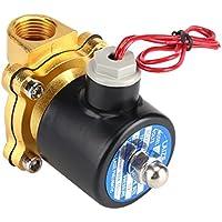 """Válvula electromagnética eléctrica de 220V DN15 1/2 \""""normalmente cerrada para el aceite de agua, aire, gas, diesel"""