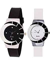 SPINOZA Analogue Multi-Colour Black And White Multicolor And Attractive Glass Glory Watch For Girls And Women...