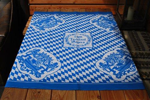 Tischdecke blauweiß - 1 Quadratmeter Freistaat Bayern