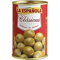 La Española Aceitunas Verdes Rellenas de Anchoa Clásicas - 300 g
