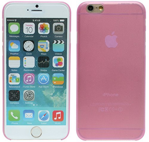 Iphone 6 // Slim Hülle 0,2mm dünn Tasche Case Zubehör in Schwarz @ Energmix Pink