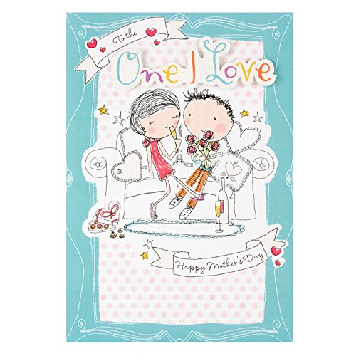 Hallmark Mother's Day Card 'One I Love Illustrated'moderne 3D-Medium