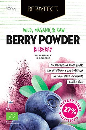 Berryfect Bio Heidelbeeren Fruchtpulver ohne Zusatzstoffe Superfood 100g