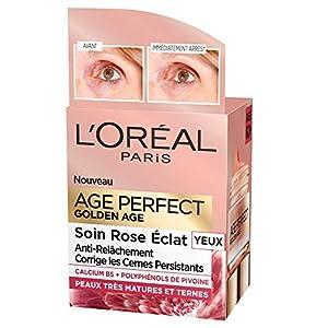 L'Oréal Paris – Age Perfect – Golden Age – Soin Rose Yeux – Anti-Relâchement & Eclat – Peaux Matures – 15 mL