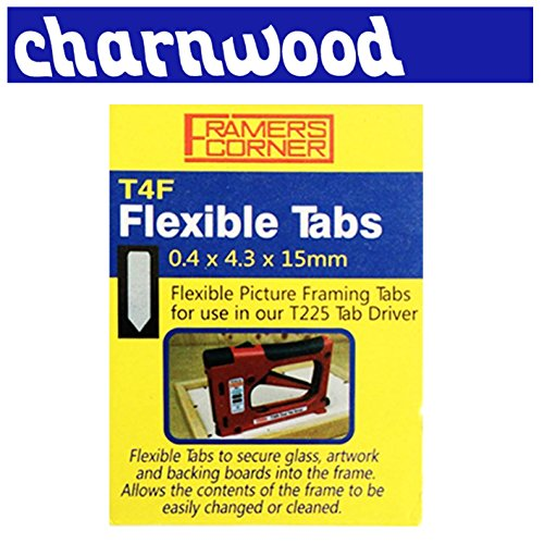 new-charnwood-t4f-flexible-tab-pack-of-2500-picture-framing-tabs